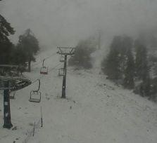 В Троодосе выпал первый снег!