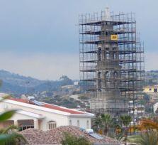 Строящийся храм Николая Чудотворца в Калогири (фото)