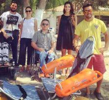 На пляже Дассуди украли инвалидную коляску для купания