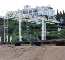 На черепашьем пляже в Полисе приостановлены приготовления к русской свадьбе