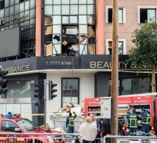 Утро в Лимассоле: взрыв и пожар в салоне красоты (update)