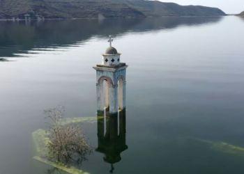 Хотите увидеть подводные съемки затонувшей церкви святителя Николая?