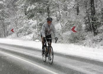 Все дороги в Троодос закрыты из-за сильного снегопада