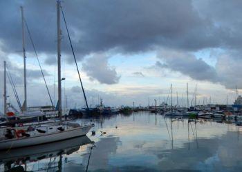 Январский рассвет, Старый порт & мегаяхта Serene