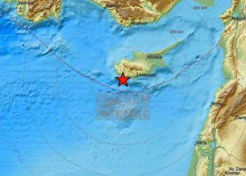 Жители Пафоса почувствовали землетрясение